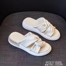 仙女涼拖鞋女夏時尚外穿2021新款防滑增高厚底網紅一字鞋拖沙灘鞋 夏季狂歡