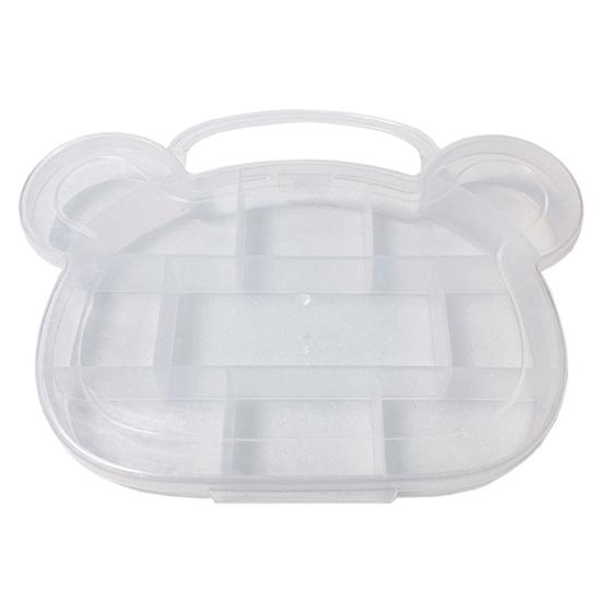 多格 收納盒 首飾盒 小熊 萬用盒 調色盤 藥盒 手提式 飾品 鈕扣 造型分格收納盒【N170】MY COLOR