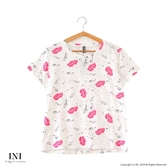 【INI】週慶限定、自在休閒印花圖案上衣.白色