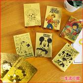 《限量 金箔撲克牌》Kitty 迪士尼 米奇 維尼 航海王 魯夫 喬巴 正版 撲克牌 桌遊 派對 遊戲 D62070