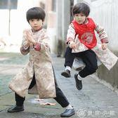 男童唐裝寶寶拜年服冬兒童漢服童裝中國風新年裝小孩過年喜慶衣服 優家小鋪