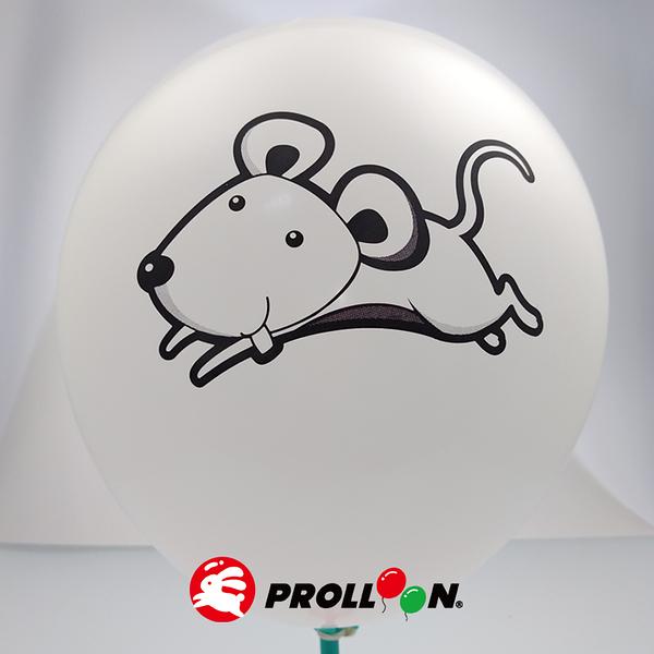 【大倫氣球】10吋圓形 卡通無版權印刷氣球 小包裝 17入裝 Screen Printing Balloons 台灣製造
