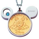 迪士尼系列金飾-黃金金幣項鍊-天使米奇款...