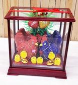 小玻璃玻麗古典帶路雞 女方嫁妝用品 新居【皇家結婚用品百貨】