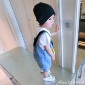 男寶寶牛仔背帶褲短褲夏季嬰兒夏裝薄褲子新款潮男童童裝小童艾美時尚衣櫥