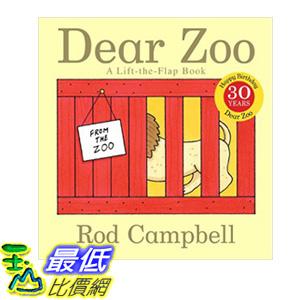 [106美國直購] 2017美國暢銷書 Dear Zoo:A Lift-the-Flap Book