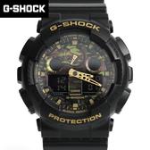 G-SHOCK 黑金色雙顯手錶 柒彩年代【NECG11】casio