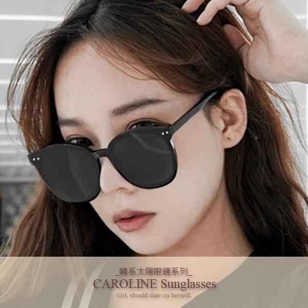 《Caroline》年度最新網紅款潮流百搭抗UV時尚太陽眼鏡 72195
