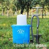 果樹施肥神器農用果園撒肥料神器手動硬地施肥槍多功能鐵鍬下肥器 LannaS YTL