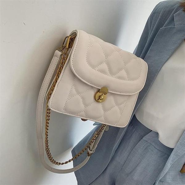 ins超火小包包女新款韓版洋氣鏈條小方包時尚百搭單肩斜挎包