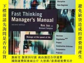 二手書博民逛書店Fast罕見Thinking Manager s Manual 英文原版-《反應機敏的經理人手冊》Y27408
