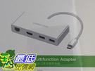 [美國直購Ugreen] 40377 Type-C擴展塢 USB-C轉HDMI轉換器 USB-C轉HDMI百兆網口3.0HUB _Y49
