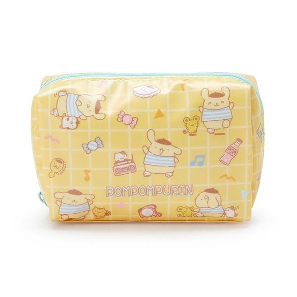 小禮堂 布丁狗 方形防水化妝包 盥洗包 小物包 隨身收納包 (黃藍 滿版) 4550337-73503