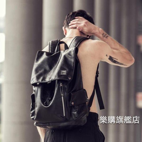 百貨週年慶-後背包男士潮流新品背包休閒時尚學生書包電腦包韓後背包