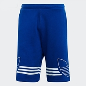 ADIDAS ORIGINALS OUTLINE SHORTS 寶藍 白線條 logo 短褲 男(布魯克林) EJ8791