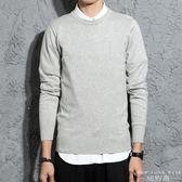 毛衣/針織衫 韓版舒適全棉簡約男士糖果色圓領