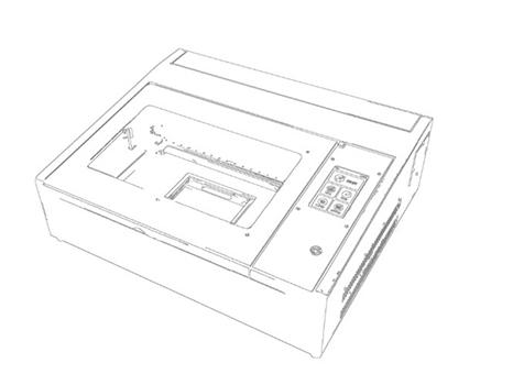 FLUX beamo 雷射切割機 型號 FX0002 採用高功率的雷射系統