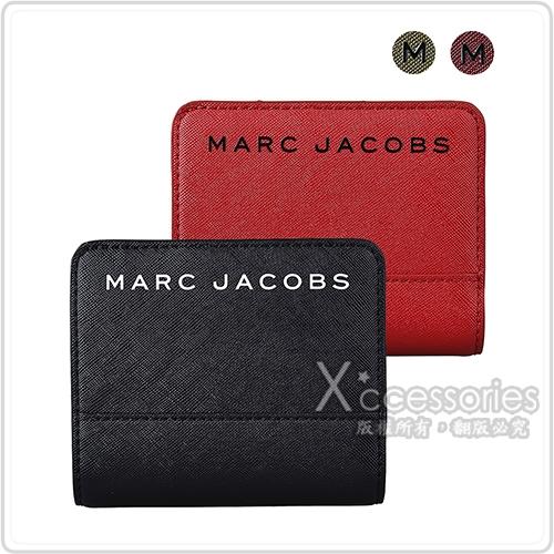 MARC JACOBS SAFFIANO 精緻PVC皮革拉鍊扣式短夾 (四色)