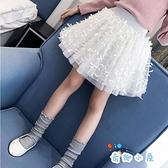 女童半身裙公主裙紗裙蓬蓬裙中大童短裙【奇趣小屋】