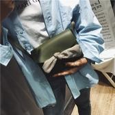 肩背包-方型斜背蝴蝶結皮革純色女手提包5色73fc114[巴黎精品]