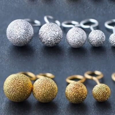 925純銀耳環(耳針式)-時尚簡約圓珠生日情人節禮物女飾品12款73dr49[時尚巴黎]