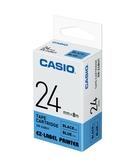 CASIO 標籤機專用色帶-24mm【藍底黑字XR-24BU1】