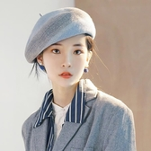 帽子女可愛秋冬毛線貝雷帽 韓版日系時尚羊毛帽針織英倫女帽