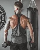 背心肌肉衫兄弟夏季薄款男士運動彈力速干背心健身訓練衣緊身男式背心-花戀小鋪
