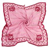 Christian Dior千鳥紋點點邊方型絲巾(粉紅色)179006