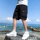 短褲男夏季薄款寬鬆7七分運動沙灘潮流休閒外穿潮流5五分工裝中褲【小艾新品】