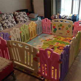 麻麻乖寶貝安全圍欄 遊戲圍欄 嬰兒護欄 寶寶柵欄 護欄 經典圍欄16小+2