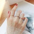 情侶戒指 日韓男女網紅玫瑰金時尚黑白滴油極細情侶戒指女尾戒學生指環飾品