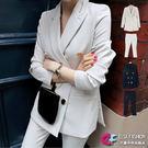 西裝外套西裝褲套裝 韓風時尚收腰西裝外套+修身西裝褲兩件式褲裝 艾爾莎【TGK5647】
