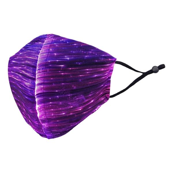 【3期零利率】全新 附5入口罩呼吸神器 RM-L102 幻彩漸變LED發光口罩 成人3D立體款 派對萬聖節 七彩