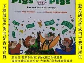 二手書博民逛書店實物拍照;Pigs罕見Will Be Pigs: Fun wit