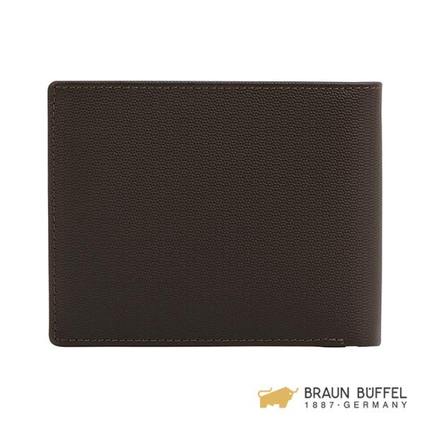【BRAUN BUFFEL】EDISON 艾迪森系列八卡短夾 -檀木棕 BF340-313-ENY