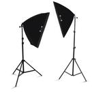 攝影棚 LED小型攝影棚攝影燈套裝補光燈拍攝拍照燈常亮柔光燈箱簡易道具