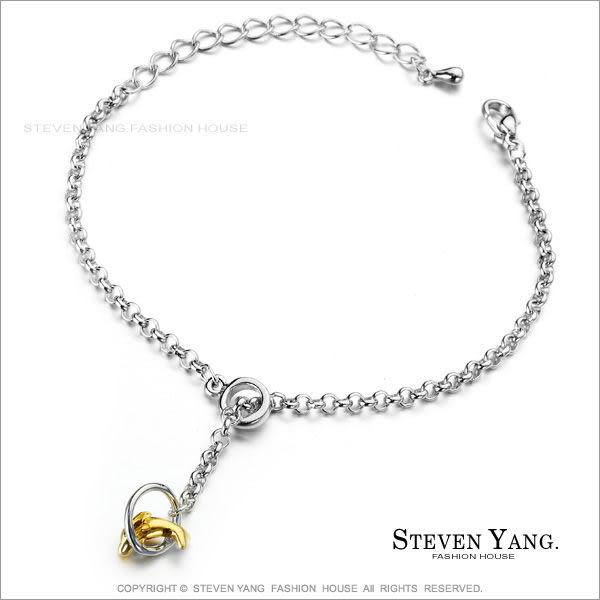 手鍊STEVEN YANG正白K飾「海豚灣戀人」金色款 甜美淑女 小資女孩