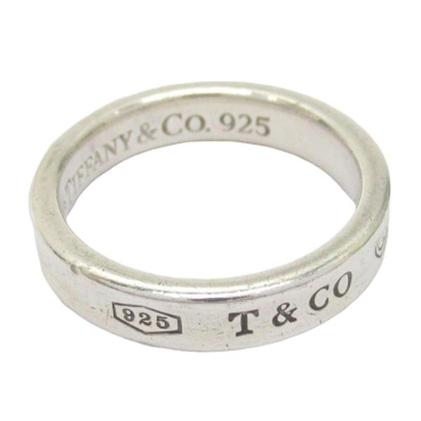 Tiffany & Co 蒂芬妮 1837系列Logo刻印925純銀戒指  9號 【BRAND OFF】