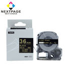 【NEXTPAGE】EPSON 一般相容標籤帶 LC-7BKP (黑底金字 36mm)