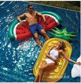 水上充氣成人披薩加厚戲水漂浮排墊Eb14624『小美日記』