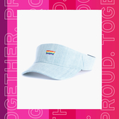 Levis 男女同款 復古網球帽 / Pride限量平權系列 / 彩虹刺繡Logo