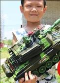 超大號遙控坦克可發射對戰充電動兒童大炮玩具履帶式男孩越野汽車 小明同學
