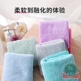 6條裝 洗臉毛巾正方形擦手帕子掛式比純棉吸水【福喜行】
