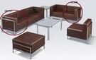 HY-597-4    103組合式沙發組-轉角沙發-咖啡/編織-單張