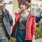 【西班牙TERNUA】女Shelltec防水連帽外套1643170 / 城市綠洲(輕量、透氣、快乾)