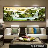 壁畫 山水畫風水靠山中式客廳裝飾畫沙發背景牆壁畫辦公室掛畫招財國畫 酷斯特數位3c igo