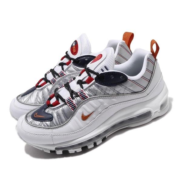 Nike 休閒鞋 Wmns Air Max 98 PRM 白 銀 女鞋 運動鞋 【PUMP306】 CQ3990-100