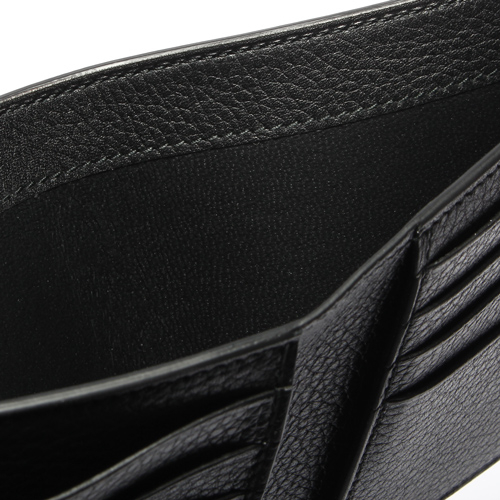 dunhill Boston質感自然皮紋圓珠LOGO短夾(黑色)257369
