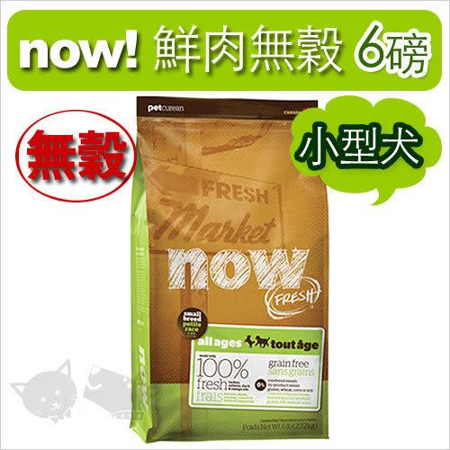 [寵樂子]《NOW!》Fresh鮮肉無穀天然糧-小型犬(小顆粒)配方6磅 / 狗飼料